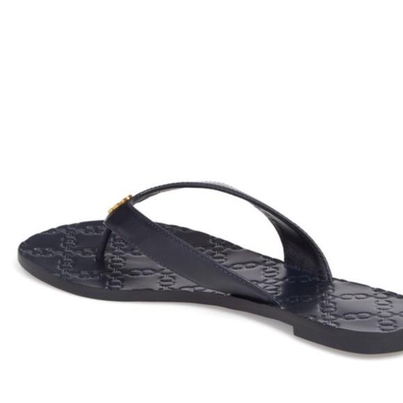 14d83e753048 Navy Tory Burch Monroe Sandals Size 8. M 5abc8aa65521bef837d32a6d